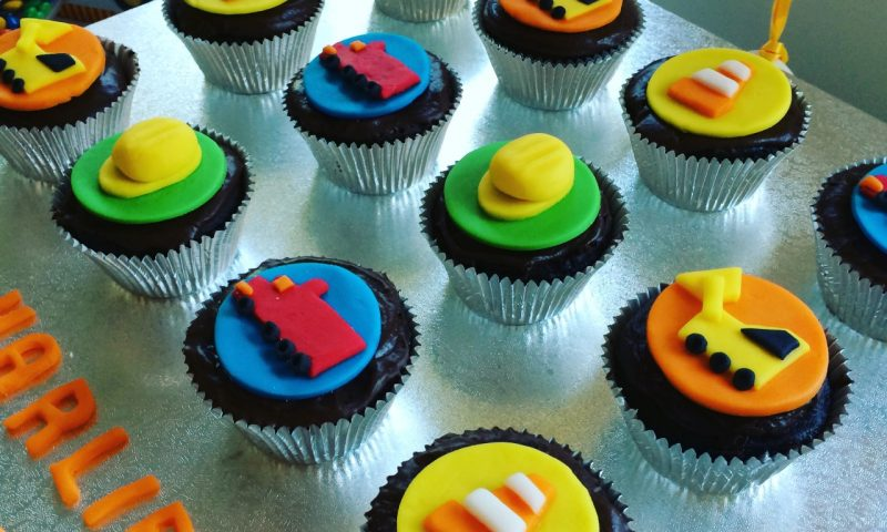 Construction Themed Cupcakes