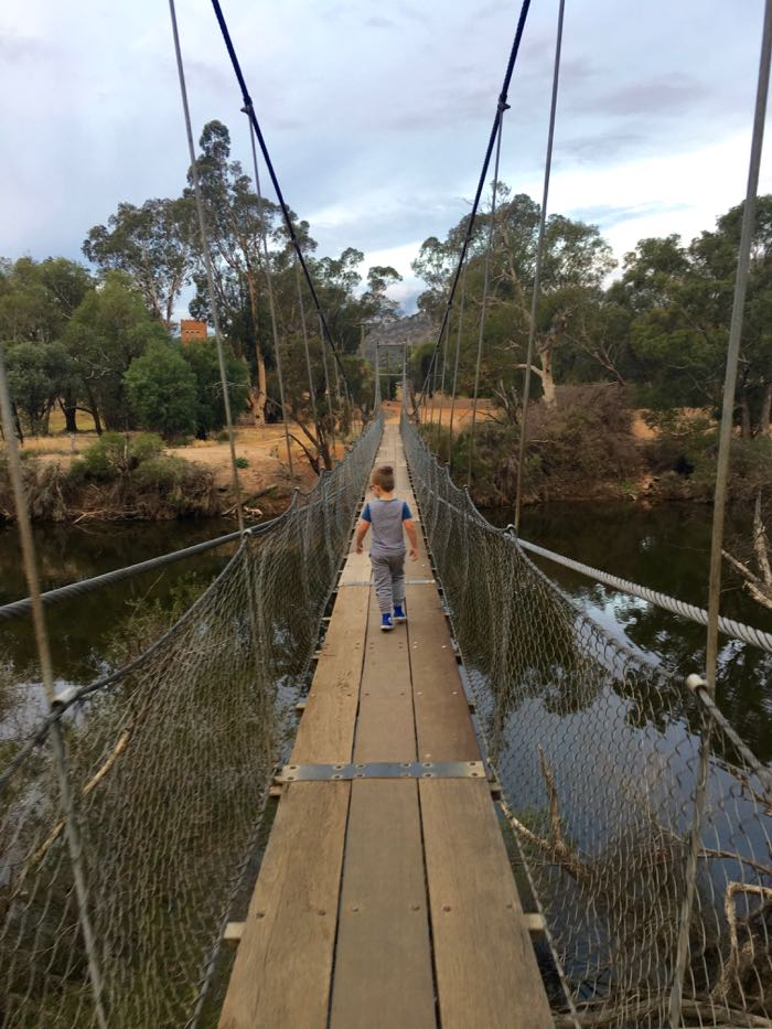 Our boys had so much fun exploring the swing bridge across the Avon River