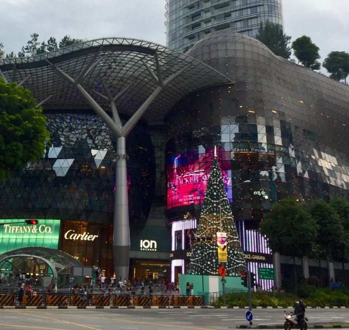 The huge, glitzy Ion Orchard shopping centre