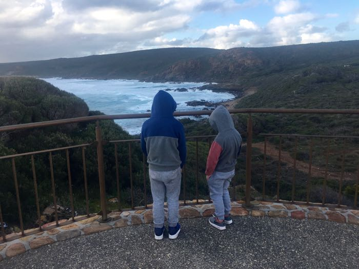 Enjoying the stunning coastline from the SugarLoaf Rock viewing platform